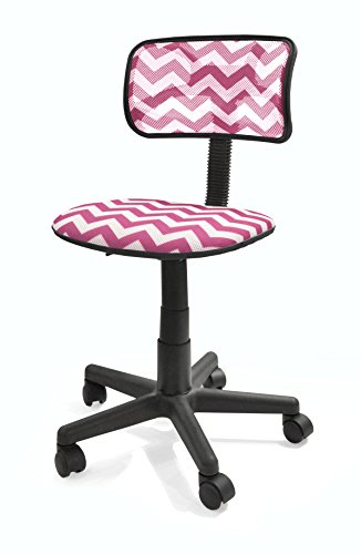 Urban Shop Pink Chevron Swivel Mesh Task Chair