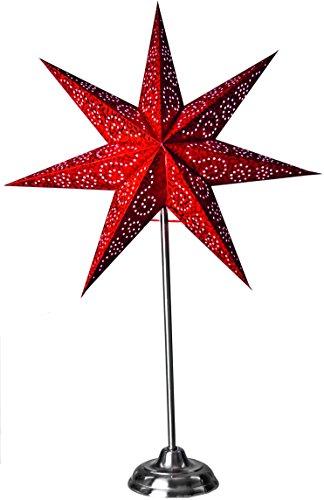 "Star 236-82, Ersatz - Papierstern""Antique"", Papier, Rot, 14.0 x 48.0 x 48.0 cm"