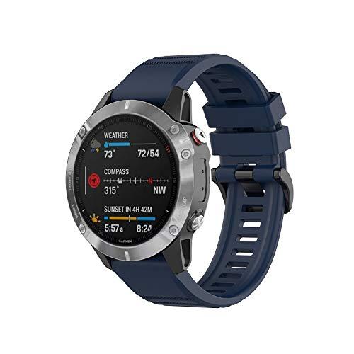 Gransho Repuesto de Correa de Reloj de Silicona Compatible con Garmin Instinct/Instinct Solar/Instinct Tactical, Caucho Fácil de Abrochar para Relojes y Smartwatch (Pattern 2)
