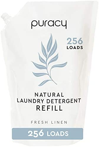 Puracy Liquid Laundry Detergent Refill 256 Loads Fresh Linen Natural Stain Fighting Enzymes product image