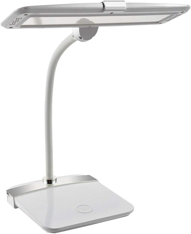 Ehime Führte Schreibtischlampenschüler, der Schlafzimmernachttischlampe einen Knopf stufenlos verdunkelt, USB-Ladestecker Doppelzweck verdunkelt