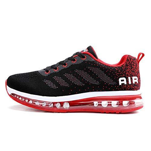 Axcone Zapatillas Hombres Mujer Deporte Running Zapatos para Correr Gimnasio Sneakers Deportivas Padel Transpirables Casual 833 RD 39EU