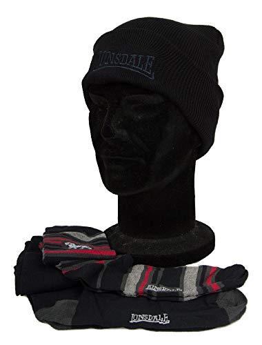 Lonsdale Geschenkset Hut Mütze + 2 Paare lange Socken Mann Artikel LNSG0001