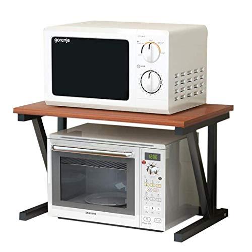 WJSW Printer Desktop Stands Kopierer Racks Büro Double-Layer-Drucker Regale Holz Desktop Storage Racks Tisch Partition Racks Küche Backofen Mikrowelle Racks (Farbe: Nussbaum)