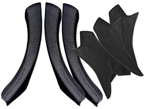 Maniglie in pelle Serie 3 E90 / E91/ E92/ M3 320i, 325d, 328i, 330d, 335d (LHD SET, nero)