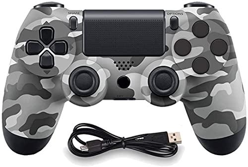JORREP Controller per PS4, Wireless Controller per Playstation 4 Pro 3 Slim  PC, Wireless Gamepad Joystick con Shock a Doppia Vibrazione a Sei Sssi e Jack Audio Mini LED(Gray)