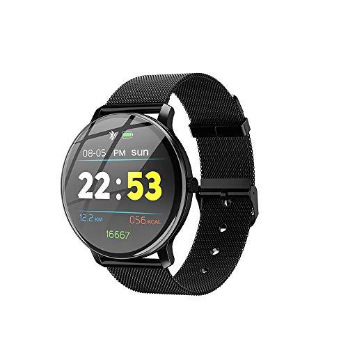 Hacker Smart Uhr, Fitness Armband, Herz Rate Monitor, Sport Uhr Farbe Bildschirm, für männer und Frauen, echt-Zeit Aufnahme von ihre eigenen übung (für IOS Android) (Black)