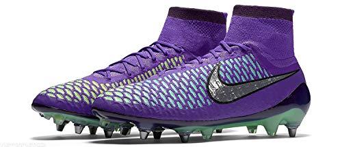 Nike Men s Magista Obra SG-PRO Soccer Cleat Hyper Grape/Metallic Silver-Green Glow Size 11.5