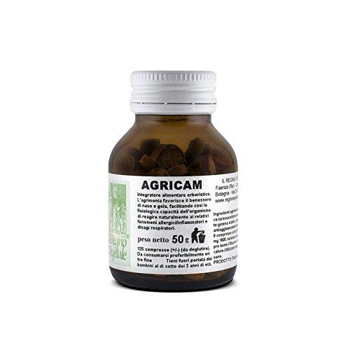 AGRICAM Integratore 125 Compresse Antiallergico Antistaminico naturale Allergie Infiammazioni Rinite allergica Orticaria etc.