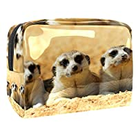 女性用コスメティックバッグ 3匹の動物 ゆったりとした化粧ポーチトラベルトイレタリーバッグアクセサリーオーガナイザー