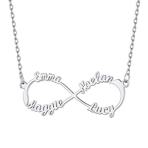 Custom4U Custom Name Necklace,Personalised Necklaces,Name Necklace for Mum...