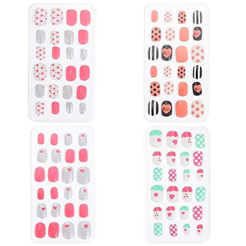 4 cajas para niños falsas uñas prensa en uñas falsas preciosas uñas uñas postizas manicura herramientas