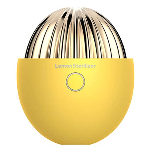 Monland Desodorizador de EsterilizacióN de Refrigerador de LimóN Creativo Desodorizador de PurificacióN de Aire de Ozono DoméStico Amarillo