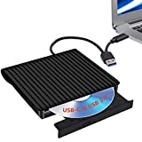 External CD/DVD Drive for Laptop USB-C & USB 3.0 CD/DVD ROM Drive Reader Writer Burner Compatible with Laptop PC MacBookMac Windows 10/8/7 Linux OS Apple