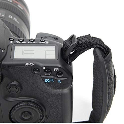 Cámara Ovalada de Cuero Hand Grip III Correa para la muñeca para Canon Nikon DSLR SLR Camera (Color: Negro)