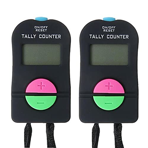 2pcs Electronic Tally Digital Small Deportes Contador Mano Número Mano Haga Clic En Contador para Natación Registros Campo Béisbol