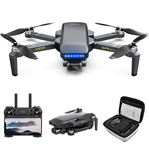 Tomzon D40 Drone with 4K Camera for Adults, GPS FPV EIS Quadcopter for Beginners with 27Mins Flight Time, Brushless Motor, Auto Return Home, Optical Flow Positioning, Tap Fly and Carrying Case
