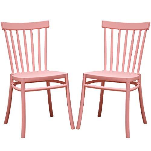 2 Stühle Windsor Weiß, Esszimmerstühle aus Kunststoff, mit 2 Stühlen, elegant, für Küche oder Esszimmer, stapelbar, sehr robust.