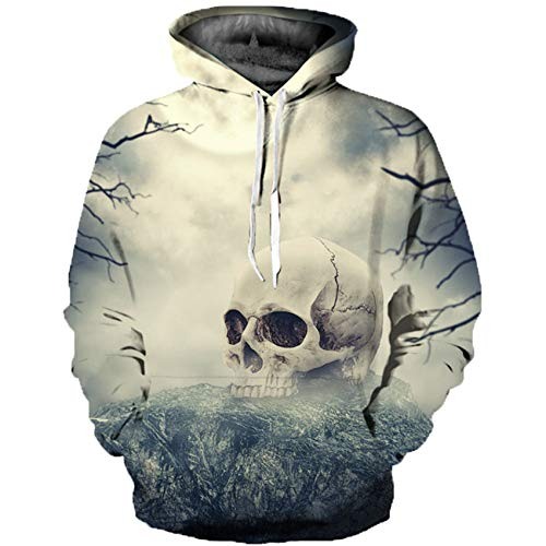 Chenlao7gou621 2020 Creative 3D Printed Sweater Street Couple Hooded Sweater