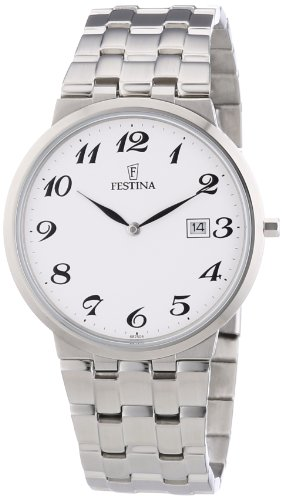 FESTINA F6825/4 - Reloj analógico de Cuarzo para Hombre con Correa de Acero Inoxidable, Color Plateado