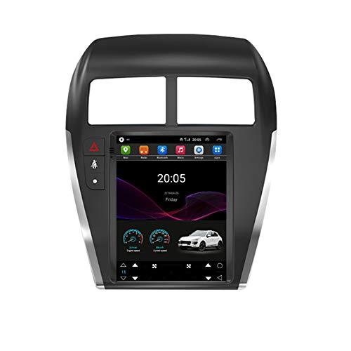 ADMLZQQ Für Mitsubishi ASX 2013-2018 Navi Auto Stereo Radio Autoradio-Empfänger GPS-Navigation Mit Bluetooth MP5-Player WiFi Lenkradsteuerung +Rückfahrkamera,4 cores 4g+WiFi:2+32g