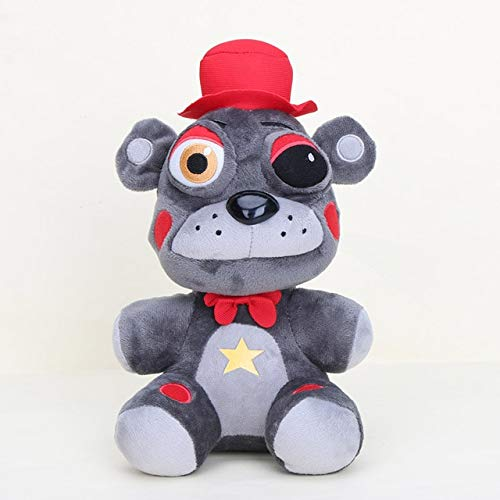 25cm FNAF Five Nights At Freddy's knuffels Freddy Fazbears Pizzeria Simulator Ver El Chip Lefty Rockstar Foxy Doll Kids Toy, 1