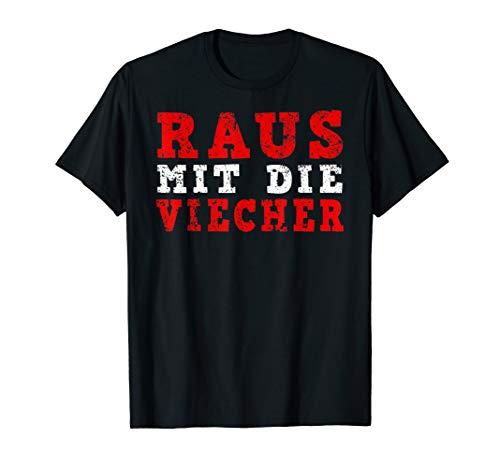 Raus mit die Viecher - Ritter Meme Spruch Lustig Ironisch T-Shirt