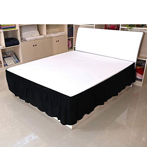 LANG ZI Falda de Cama,150/135 cm Volantes elástica Falda de Cama Bedding Ruffled Bedskirt Medidas canapé Cubre unda de somier Faldón de Volantes con (Color : H, Size : 200 * 200cm)