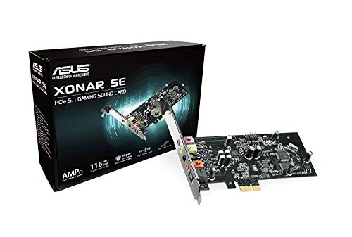 Asus Xonar SE interne geluidskaart (PCI-Express, hoofdtelefoonversterker tot 300 ohm, 116 dB)