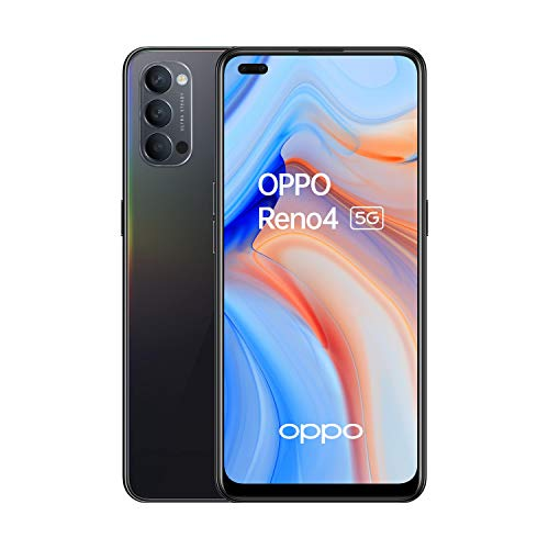 Oferta de OPPO Reno 4 5G - Smartphone 128GB, 8GB RAM, Dual SIM, Carga rápida 65W - Negro