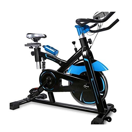 DJDLLZY Bicicleta de ciclismo para interiores, con correa de accionamiento interior, pantalla LCD para entrenamiento cardiovascular en el hogar