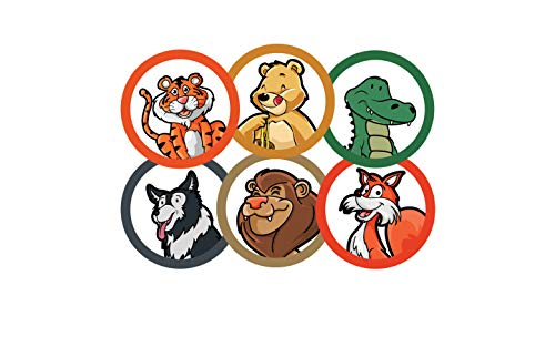 75 Pack Toilet Targets for Boys, Potty Training Flushable Animal Target, 2 X 2 Inch Paper Tinkle Targets for Boys, 100% Biodegradable and Sewage Safe Pee Targets for Boys Training