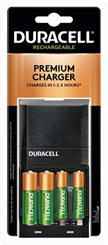 Duracell - Ion Speed 4000 Battery Charger - with 2 AA and 2 AAA Batteries - charger for AA and AAA batteries