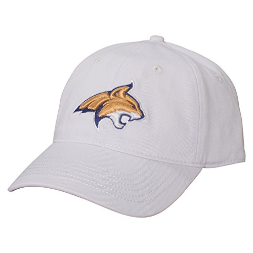 Ouray Sportswear NCAA Montana State Bobcats Epic Washed Twill Cap, White
