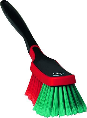 Vikan 525252 Multi Brush/Rim Cleaner, Soft/Split, Black, 290...