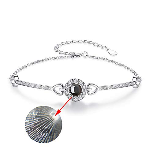 LJ123 Ich Liebe Dich 100 Sprachen Armband Projektion Armband Armreif Charm Wristlet Schmuck Geschenk für Frau