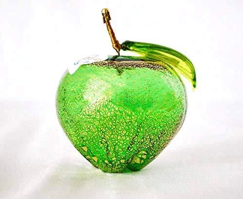 Authentic Murano Glass Blown Apple, Green