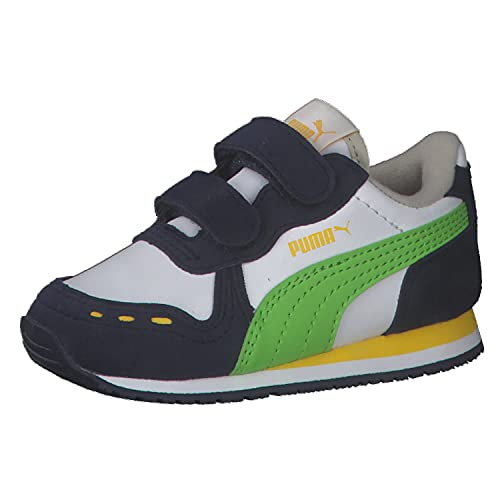 PUMA Unisex Baby Cabana Racer Sl V Inf Sneaker, White Green Flash, 27 EU