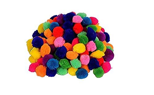 EliteKoopers 100 bolas de pompón de lana mixtas de 15 mm para Navidad, manualidades, suministros de afición y artículos de decoración