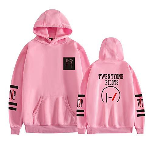 Twenty One Pilots Pullover Estilo Occidental cómoda Pullover Sudadera Airy Outwear Suave Sudaderas con Capucha de Manga Larga Unisex Coats Unisex (Color : Pink01, Size : L)