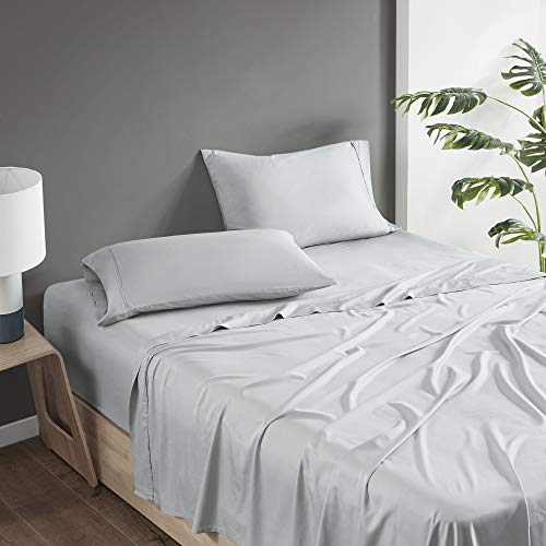 Comfort Spaces 100% Rayon (from Bamboo) Bed Sheets Set, Breathable, Cooling Sheet with 15