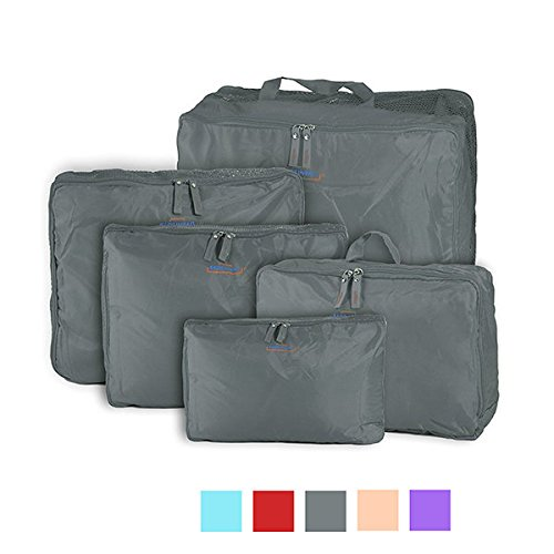 Bazaar Honana HN-TB11 5 stuks reisopbergtas nylon bagage verpakking organizer koffer ritssluiting tassen