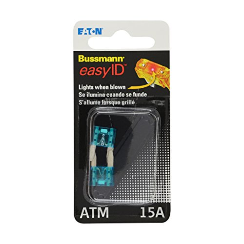 Bussmann BP/ATM-15ID easyID Illuminating Blade Fuse, (Pack of 2)