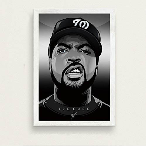 zpbzambm Frameless Wall Painting 40X50Cm - Nwa Hip Hop Music Rap Star Ice Cube Dr. Dre Eazy-E Old School Art Silk Painting Canvas Wall Poster Home Decor Zp-1408