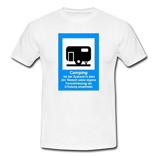 Wohnwagen Camping Zustand Verwahrlosung Erholung Männer T-Shirt, XL, Weiß