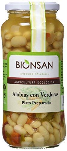 Bionsan Alubias con Verduras Ecológicas - 4 Botes de 400 gr - Total: 1600 gr