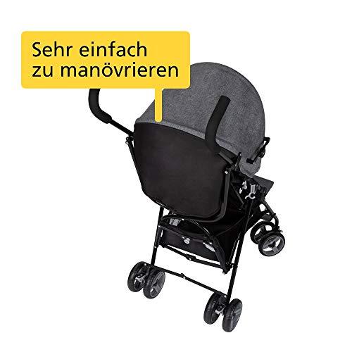 Safety 1st 1116666000 Safety 1st Buggy Kiplo, Kompakter zusammen-klappbarer Kinderwagen mit abnehmbaren Verdeck mit Sitz- und Liegeposition, ab der Geburt bis ca. 3 Jahre, Black Chic, schwarz 5700 g