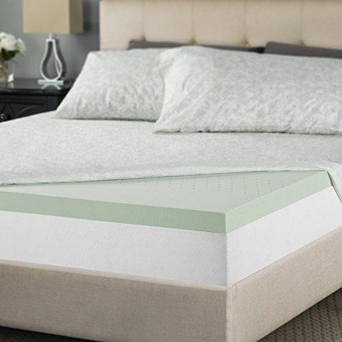 Zinus 2 Inch Green Tea Memory Foam Mattress Topper, Twin