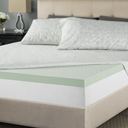 Zinus 2 Inch Green Tea Memory Foam Mattress Topper, King