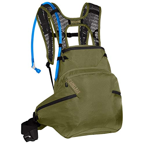 CAMELBAK Skyline Low Rider 10 Hydration Pack - Olive, 10L / 10 Litre LR Hydrate Backpack Rucksack Bag Bicycle Cycling Cycle Biking Bike Mountain MTB Trail Crux Reservoir Bladder Water Drink Store